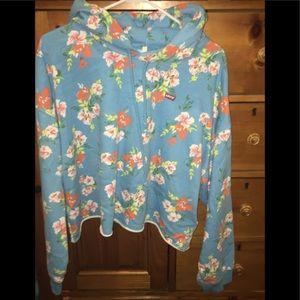 💕Levi's crop floral hoodie size xl